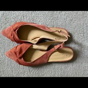 Anthropologie pointed toe flats